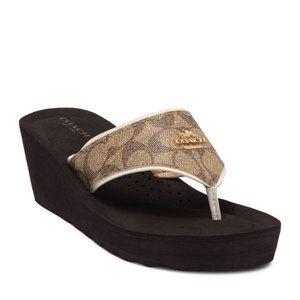 Coach Janice Signature Platform Wedge Sandals